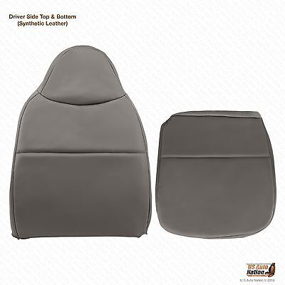 2008 Ford F250 F350 F450 F550 XL Driver Bottom & Lean Back Vinyl Seat Cover Gray