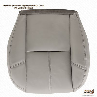 2007 2008 Chevy Suburban 1500 LT LS Z71 Driver Bottom Leather Seat Cover Gray