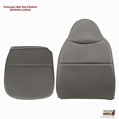 2008 Ford F250 F350 F450 F550 XL Passenger Bottom  & Top Vinyl Seat Cover Gray