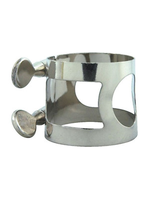 Alto Sax Generic Ligature Nickel Plated Silver MADE IN USA - FREE POSTAGE IN AUS