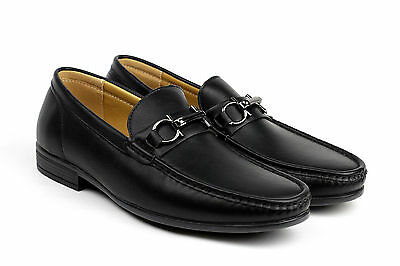 Mens Driving Slip On Casual Shoes Smart Loafers Leather Look Moccasin Style UK