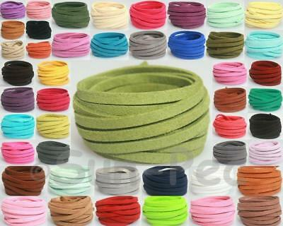 Faux Suede Leather Lace Cord Thong String Jewelry Crafts Charms DIY 5mm or 8mm