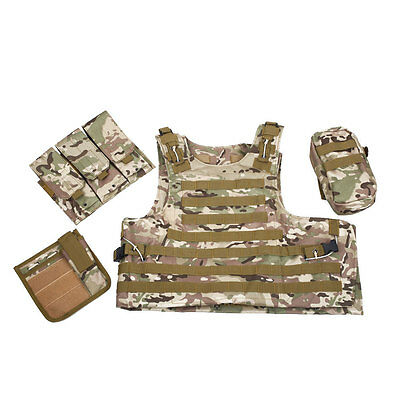Outdoor Sports Waistcoat Tactical Military Molle Assault Plate Carrier Vest