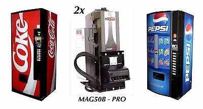 2x Coinco MAG50B PRO Bill Validator Acceptor New $5,$10,$20 Laundromat Changer
