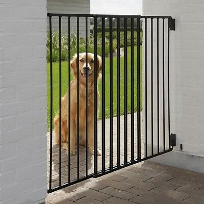 Outdoor Dog Gate Extendable Width Pet Barrier For Garden Patio and Indoor Use