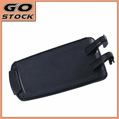 Black Armrest Console Center Lid Cover PU Leather for 2004-2007 Audi A4 Wagon B7