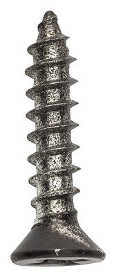 National Hardware N179-159 #7X3/4 Flat Head Wood Screws Black