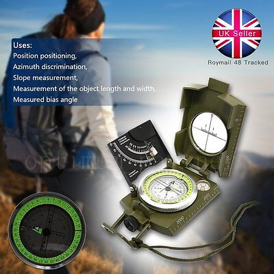 Professional Compass Metal Pocket Waterproof Military Army Sighting Inclinometer