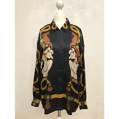 ESCADA Vintage Silk Blouse Cowboy Print Size Medium