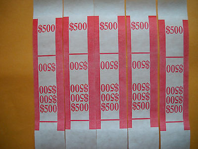 25 currency straps bands USA $5 bills