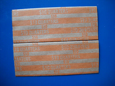 25 USA quarters new flat paper coin wrappers