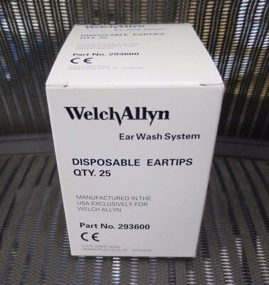 New Box Of 25 Welch Allyn 29360 293600 Eartips Ear Tip For Ear Wash System 29350