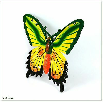 """Beautiful Large Colourful 5"""" Wingspan Butterfly Fridge Magnet. Super Gift Idea!!"""
