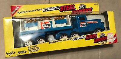 Vintage Buddy L Toys Pepsi Cola Motorized Steel Drivers Delivery Truck *NEW*