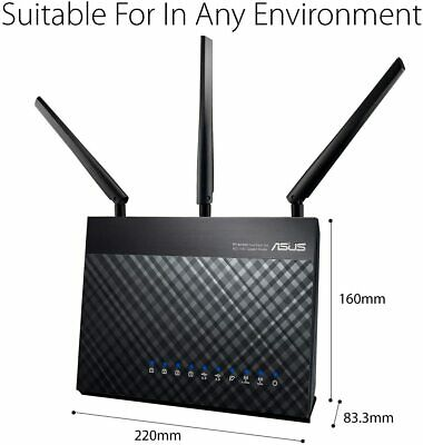 ASUS Dual-band Wireless-AC1900P Gigabit Router same as (RT-AC68U)