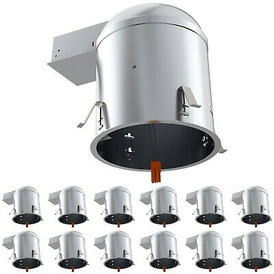 Sunco 12Pack 6-Inch Remodel Can Air Tight Ic + Ul Housing Recessed Led Lighting