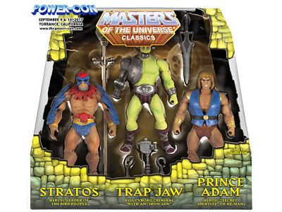 Power Con Exclusives 2017 MINICOMIC-SET Stratos, Trap Jaw & Prince Adam 3-Pack