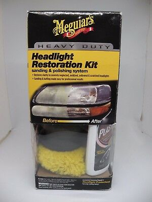Meguiar's Heavy Duty Headlight Restoration Kit Sanding & Polishing System