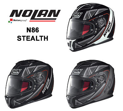 Nolan N86 'stealth' Graphic Full Face Motorcycle Helmet - Made In Italy
