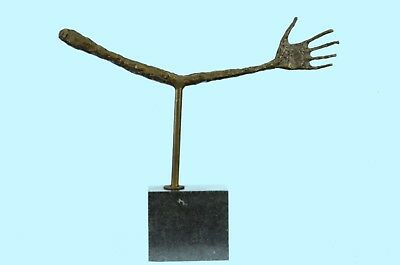 Sculpture Statue Handcrafted Cubist Abstract Hand by Gia Lost Wax Method Bronze
