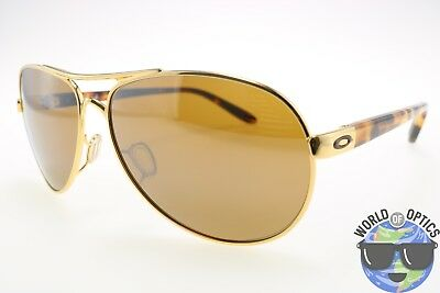 Oakley Women's Sunglasses OO4079-04 FEEDBACK Polish Gold-Tort w/Tungsten Iridium