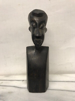 Ebony Wood Hand Carved Figure  - Vintage