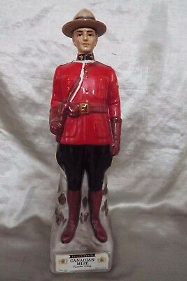 1969 Canadian Mist Whiskey Decanter Rcmp Canadian Mountie - Free Shipping