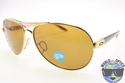 Oakley Women's Sunglasses OO4079-08 FEEDBACK Polished Gold w/ Bronze Polarized