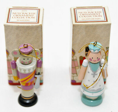 Avon~Vintage 1984 Nutcracker Ornament Collection~Set Of 2