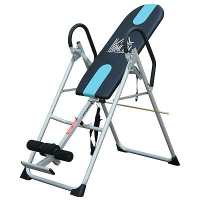HOMCOM Foldable Therapy Gravity Inversion Table AB Exercise Bench Home Fitness