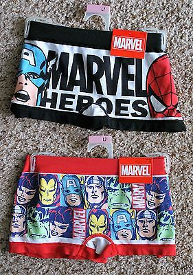 NWT's Lot of 2 Womens Marvel Super Hero Boy Shorts Size 7/Large. FREE SHIPPING!