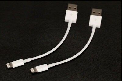 2X Short USB Cable Data Sync Charger Charging Cord for iPhone 5 6 7 8 + X XR XS