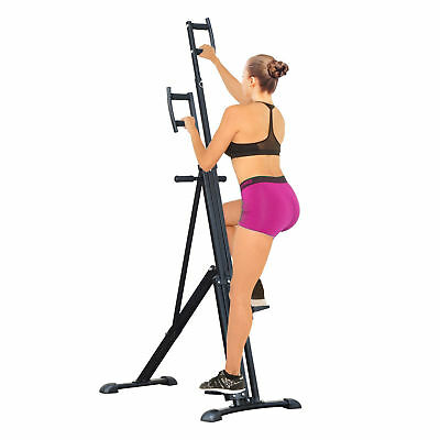 HOMCOM Vertical Climbing Machine Cardio Stepper Home Gym Exercise Workout Black