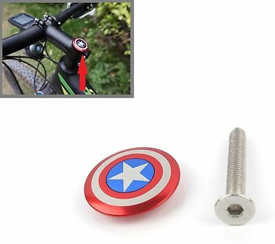 "New Bicycle Stem Top Cap Headset Cover 28.6mm 1 1/8"" Steerer of Captain Logo USA"
