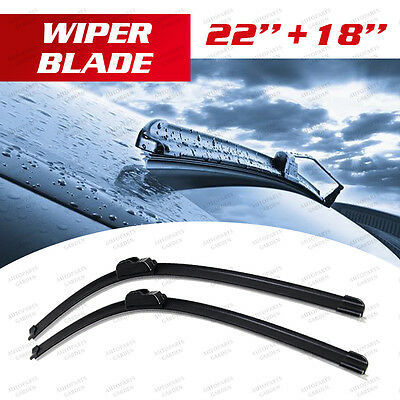 "Brand New Windscreen Wiper Blades 18""/22"" Fit for J/U HOOK ARM AU"