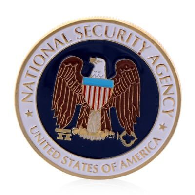 Golden National Security Agency Commemorative Coin Challenge Art Collection