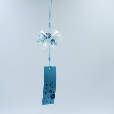 Japanese Glass Wind Chime Bell Hanging Ornament Gift Garden Hibiscus Flowers