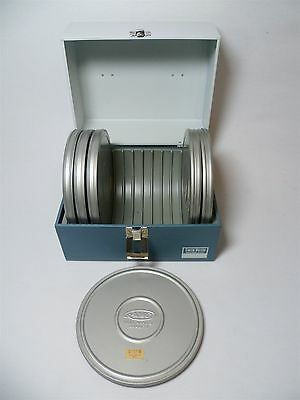 Vintage Smith-Victor Super 8 Reel Storage Carry Steel Case with 6 7 Inch Reels