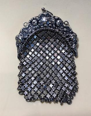 Antique Sterling Silver 925 Mesh Chatelaine Purse