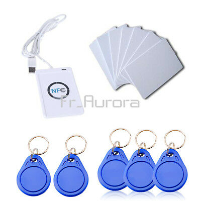ACR122u NFC Reader&Writer 13.56Mhz RFID Copier Duplicator+5pcs UID Cards+Tags