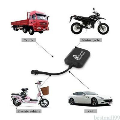 Durable Car Motorcycle Electric Car GSM Tracker Real Time Tracking Device Black