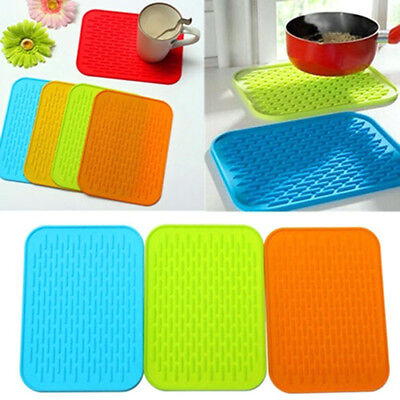 Silicone Non-Slip Heat Resistant Mat Pan Hot Iron Straightener Holder Colours