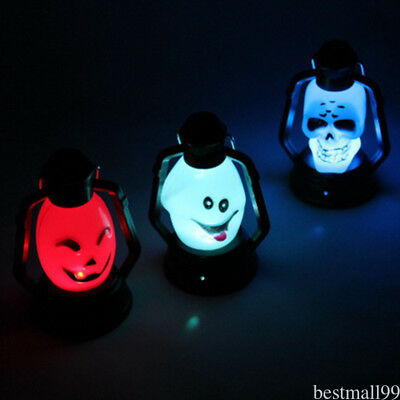 Halloween Scary Hanging Lamp Flash Skull Grimace LED Lantern Night  VE2