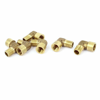 6 Pcs 1/8BSP x 1/8BSP Male to Female Thread Right Angle Elbow Coupling Connector