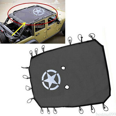 Eclipse Sun Shade UV Protection Mesh Top Cover For Jeep Wrangler JK 2007-2017 AU