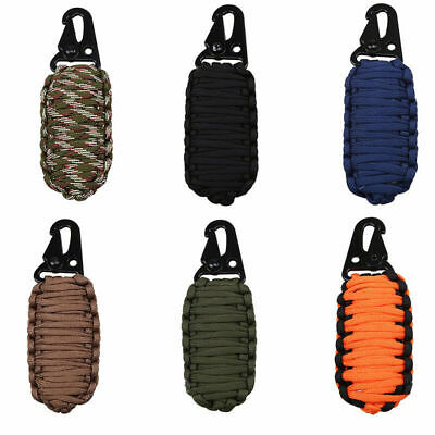 Paracord Grenade Survival Kit Fire Starter Camping Fishing Tools Gear First Aid