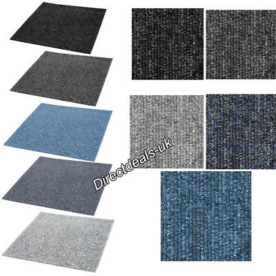 5m2 Box of Premium Carpet 20 Tiles Commercial Domestic Office Heavy Use Flooring