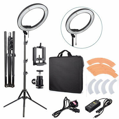 "18"" 240LED Ring Light Photo Studio Video Photography Kit + Bag/ Light Stand MA"