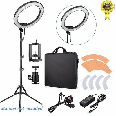 "18"" 240LED Ring Light Dimmable Photo Studio Video Photography + Carrying Bag MA@"