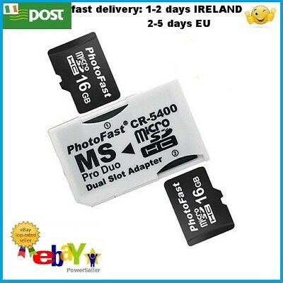 Dual slot Micro SD SDHC TF to MS Memory Stick Pro Duo Adapter Converter